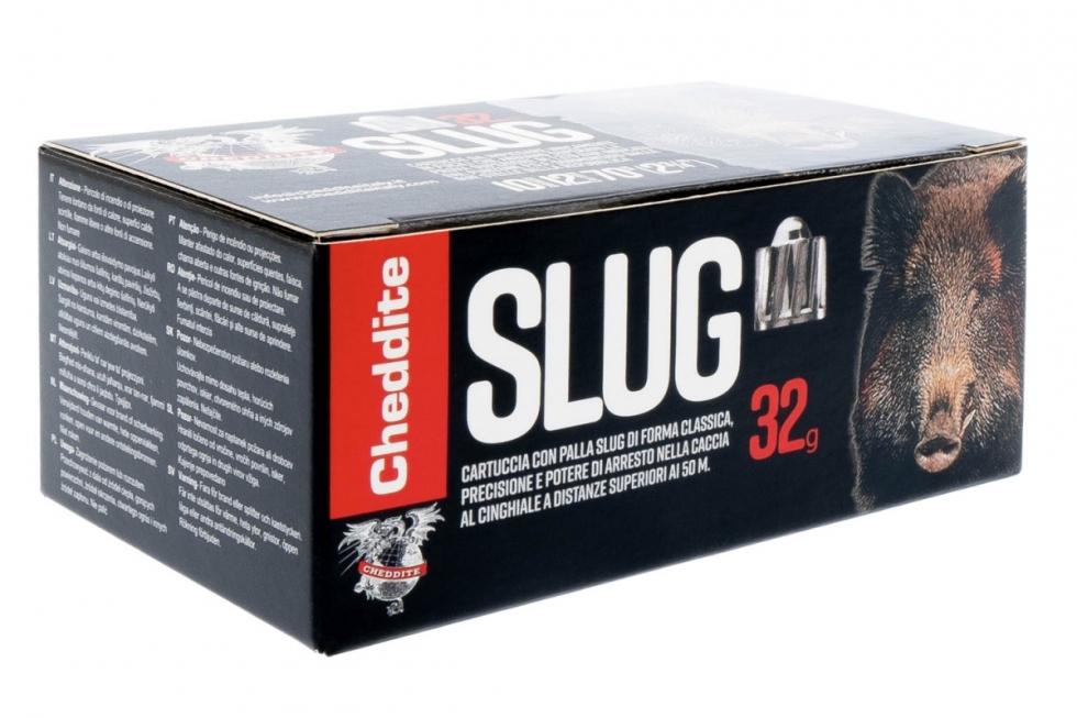Cheddite SLUG, 12/70, пуля, 32гр.