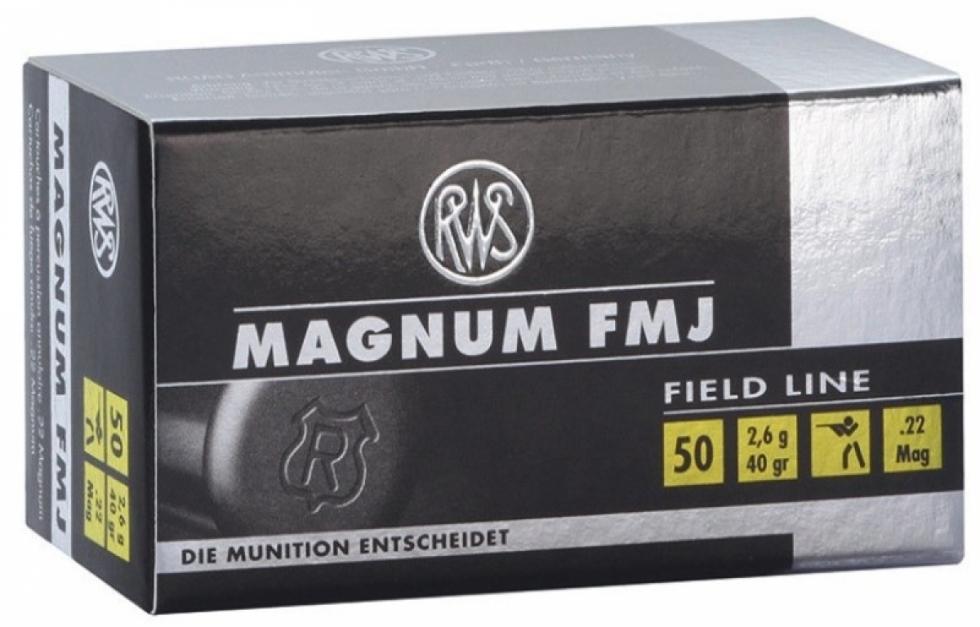 RWS, .22 WMR., DN 2,6 FMJ Magnum, 50 шт.