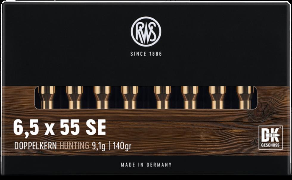 RWS, 6,5x55SE, DOPPELKERN, 9,1гр/140gr,  20 шт.