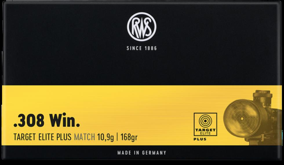 RWS, 308Win, Target Elite Plus Match, 10,9гр/168gr,  20 шт.