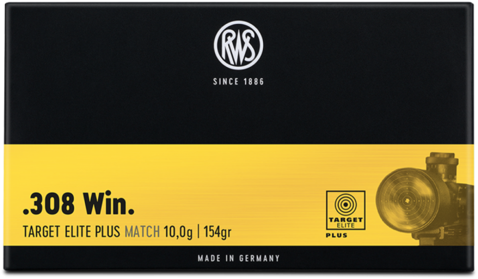 RWS, 308Win, Target Elite Plus Match, 10,0гр/154gr,  20 шт.