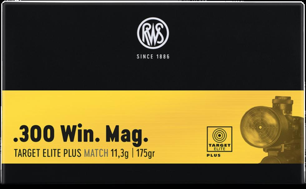RWS, 300Win.Mag, Target Elite Plus Match, 12,3гр/190gr,  20 шт.