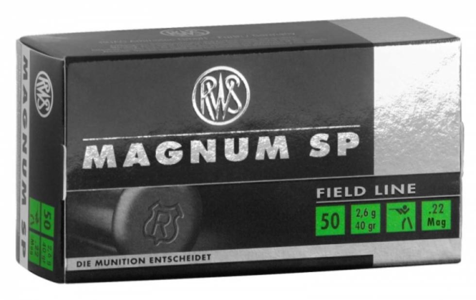 RWS, .22 WMR., DN 2,6 SP Magnum, 50 шт.