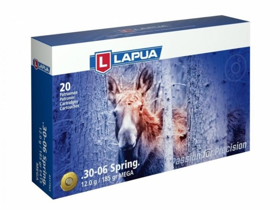 Lapua, .30-06 SPRG., 185gr/12gr, Mega SP, , 20 шт.